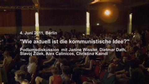 Podiumsdiskussion mit Slavoj Žižek, Dietmar Dath, Janine Wissler, Alex Callinicos und Christina Kaindl am 4. Juni 2011 in Berlin
