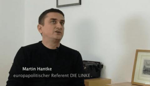 Martin Hantke, europapolitischer Referent DIE LINKE