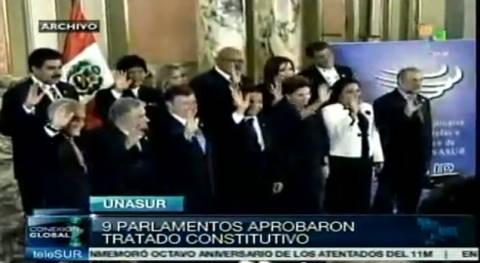 Erster Jahrestag der formellen Gründung von UNASUR