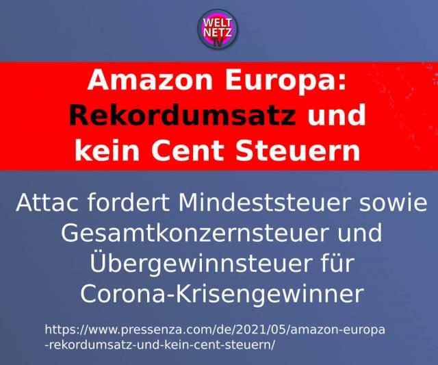 Amazon Europa: Rekordumsatz und kein Cent Steuern