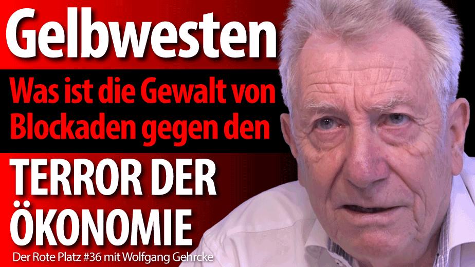 Wolfgang Gehrcke über die proteste der Gelbwesten
