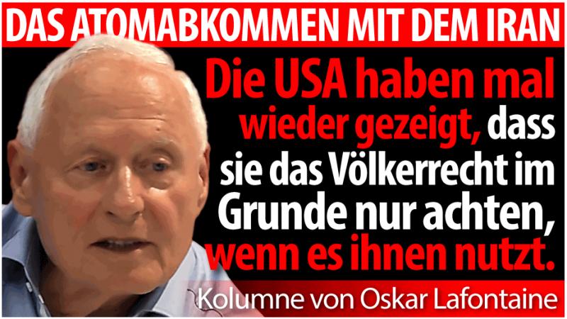 Oskar Lafontaine Iran Atomabkommen