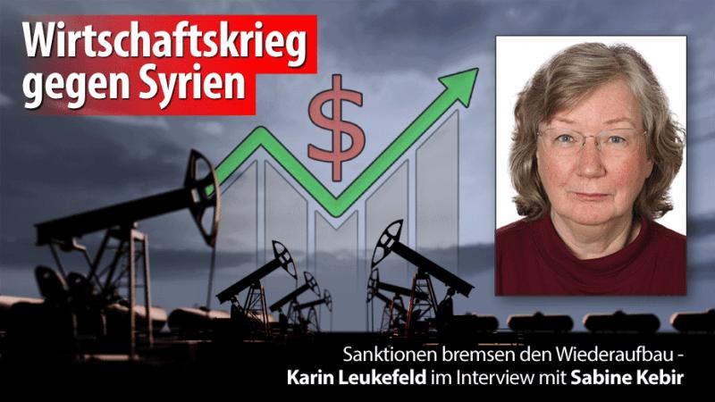 Sanktionen bremsen den Wiederaufbau - Karin Leukefeld im Interview mit Sabine Kebir