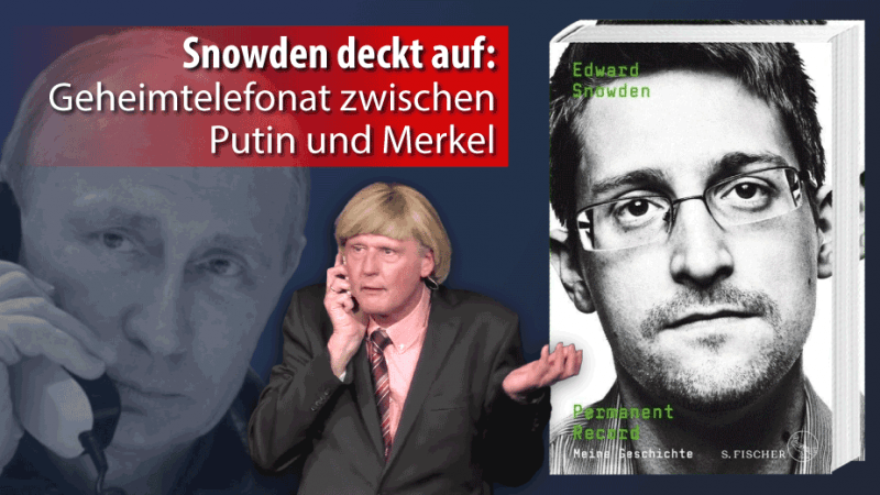 Reiner Kröhnert als Angela Merkel: Mutti möchte sich Edward Snowden von Putin ausleihen